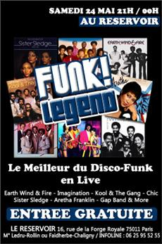 FUNK LEGEND @ LE RESERVOIR - Concert Paris