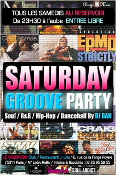SATURDAY GROOVE PARTY @ LE RESERVOIR Soirées & Clubbing
