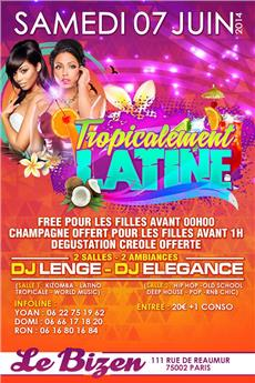 Tropicalement Latine - after work - Soirée Clubbing - CityZens