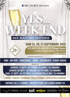 YES WEEK-END 3 : Mix Masters Editions Soirées & Clubbing