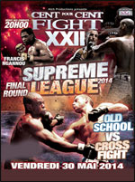 100% FIGHT 22 SUPREME LEAGUE FINALE - after work - Arts martiaux Autres sports de combat Boxe  - CityZens
