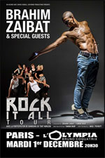 BRAHIM ZAIBAT ROCK IT ALL TOUR