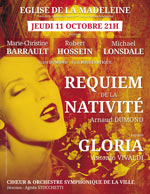 DUMOND: REQUIEM DE LA NATIVITE VIVADI: GLORIA carrefour