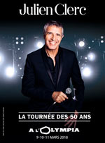 JULIEN CLERC 50 ANS DE CARRIERE - Concert Paris