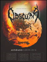 OBSCURA + REVOCATION BEYOND CREATION + RIVERS OF NIHIL carrefour