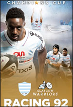 RACING 92 / GLASGOW WARRIORS EUROPEAN RUGBY CHAMPIONS CUP