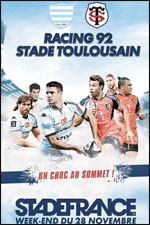 RACING 92 / STADE TOULOUSAIN RUGBY TOP 14