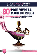 STADE FRANCAIS PARIS / ASM CLERMONT RUGBY TOP 14