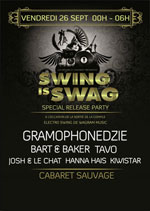 SWING IS SWAG, GRAMOPHONEDZIE, TAVO RELEASE PARTY COMPIL WAGRAM MUSIC