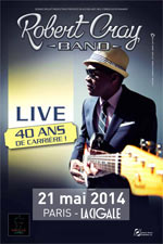 THE ROBERT CRAY BAND  - Concert Paris