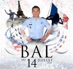 Bal des pompiers � paris du 13 et 14 juillet 2014