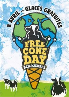 Free Cone Day 2014 by Ben & Jerry's - Bon Plan - CityZens