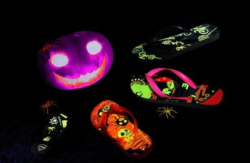 Halloween : des tongs qui s'illuminent la nuit