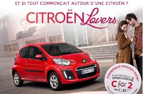 Pour la Saint Valentin, Citroën organise à Paris un speed-dating exceptionnel