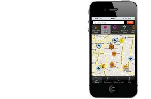 Une application de localisation des soldes pour iphone et for Application miroir pour ipad